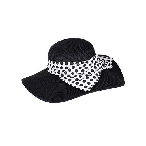 Dents Large Flat Bow Detail Hat Black/White