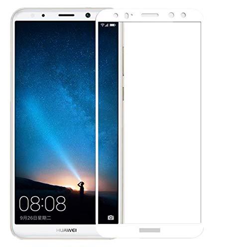 Copmob [2 pezzi Huawei mate 10 Lite vetro temperato,[Copertina completa] [2.5D curvo bordo],Durezza 9H, Ultra Resistente, Anti Scratch Alta Qualità, Pellicola Vetro per Huawei mate 10 Lite -Bianco