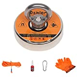 Aveland 2021 US Portable & Practical Magnet Fishing Kit with Strong Magnet & Rope & Gloves & Glue & Threadlocker, 550 lbs, Orange CA