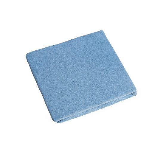 Lenzuolo con angoli in spugna, 160 x 70 cm per culla lettino - blu