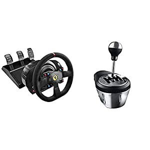 immagine di Thrustmaster T300 Integral Rw Volante, Alcantara Edition - PC/PS4/PS3 + Thrustmaster TH8A Cambio per volanti (PS4, Xbox One, PS3, PC - Windows 8, 7, Vista & XP)