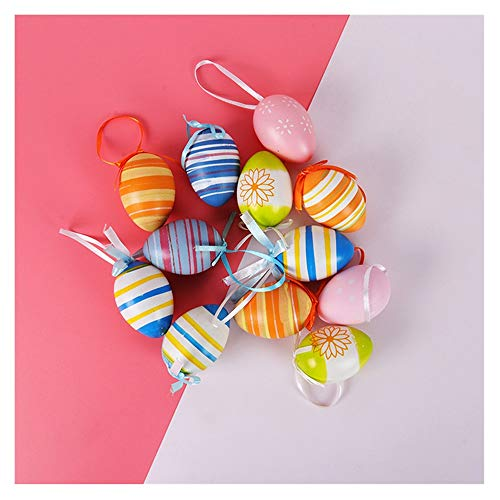 SHUWB Easter Decorations For Tree, Easter Decorations Home, Easter Tree With Lights, White 60cm Table Top Twig Tree, Pre-Lit With LEDS Includes Complimentary Decorations (Color : 6pcs Random color)