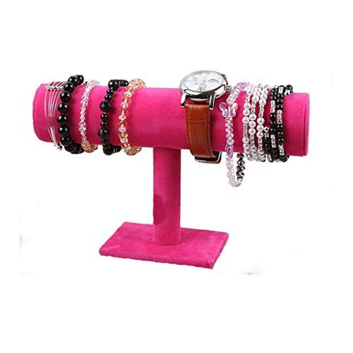 JYDQM El Estante de exhibición de la joyería de Terciopelo de cernido - Pulsera del Collar de Soporte de exhibición de la joyería for la Organización de la casa (Color : A)