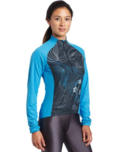 Sugoi Women's Sonic Long Sleeve Jersey (Abyss, Small)
