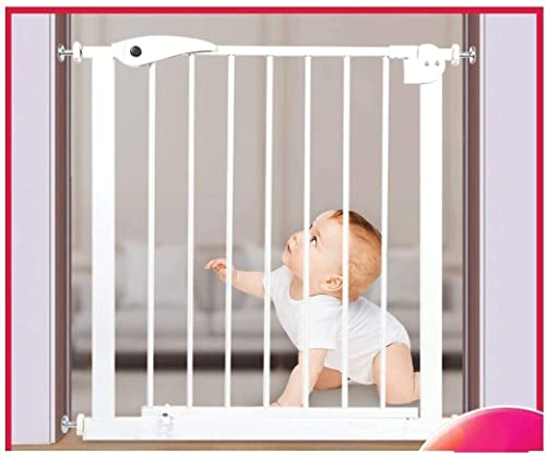 WITYYE Gwendolyn Stair Gates Pressure Fit Metal Gate Stands 75Cm Di Altezza la Larghezza Può Essere Selezionata da 75 a 172Cm Pet Gate Baby Gate/Bianco/105~112 Centimetri