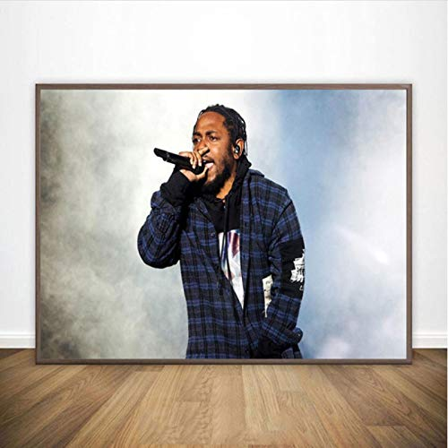lubenwei Kendrick Lamar Poster Hip Hop Rap Music Star Art Painting Canvas Posters and Prints Wall Home Decor 40x50cm No frame AW-1479
