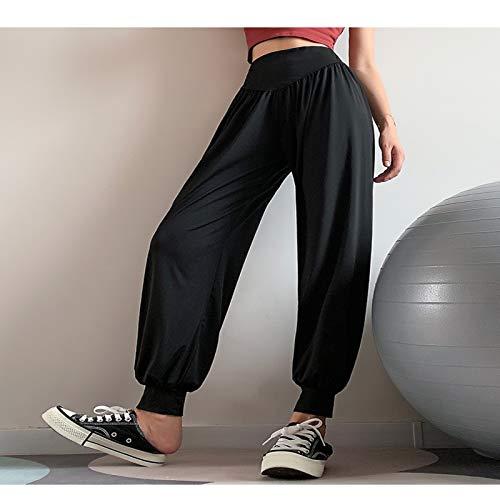 QZH Mujeres Harem Yoga Pantalones Soft Lounge Fondos Casual Fondos Flojos Pilates Pantalones Pantalones de Entrenamiento,L