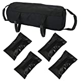 Verpiason Workout Sandbag for Fitness Conditioning Training Crossfit Home Gym Heavy Duty Dynamic Load Weight Bag Black