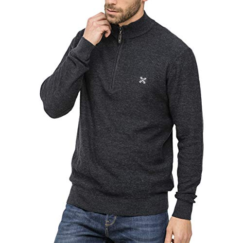OxbOw PUMPSTON Pull Homme, Noir Chiné, FR (Taille Fabricant : XL)