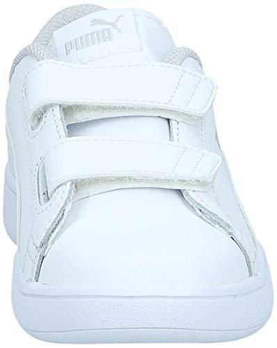 PUMA Smash v2 L V Inf, Zapatillas Unisex niños, White White, 26 EU