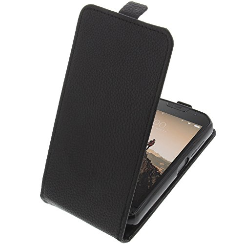 foto-kontor Tasche für Doogee S30 Smartphone Flipstyle Schutz Hülle schwarz