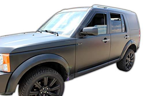 J&J AUTOMOTIVE Windabweiser Regenabweiser für Land Rover Discovery 3 III 5-türer 2005-2009 2tlg HEKO dunkel