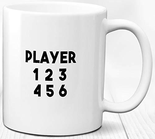 Spielspieler Kaffeebecher 330 ml Computerspieler Geschenk Zahlen Keramik Tasse