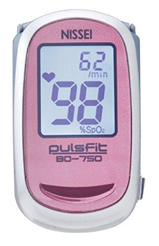 日本精密測器(NISSEI) 指先クリップ型パルスオキシメータ pulsfit BO-750 ピンク