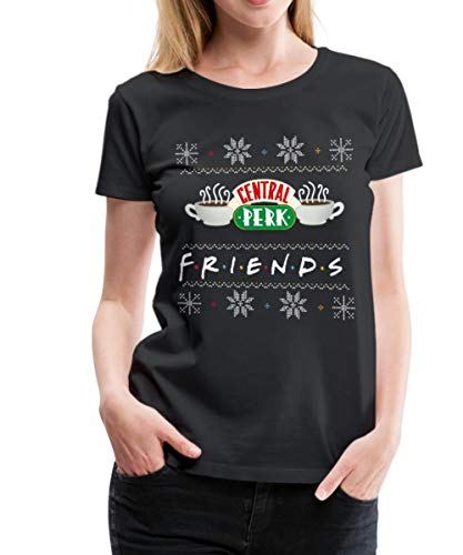 Spreadshirt Friends Central Perk Ugly Christmas Vrouwen Premium T-shirt