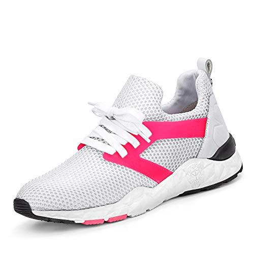 Marc Cain LB SH 17 J06 292 Damen Sneaker aus Netzjersey herausnehmbares Fußbett, Groesse 38, weiß