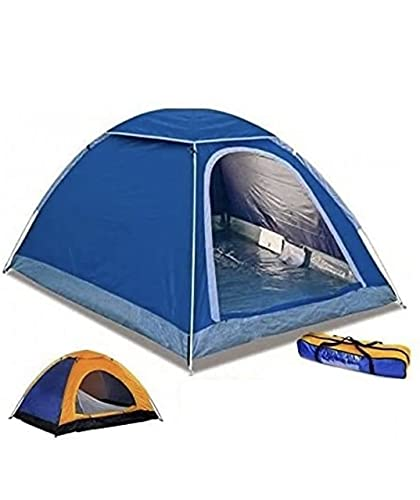 tenda da campeggio yuanj TENDA CANADESE IGLOO DA 4 POSTI QUATTRO PERSONE PER CAMPEGGI MARE VIAGGIO CAMPING SPIAGGIA 200x200x135 cm