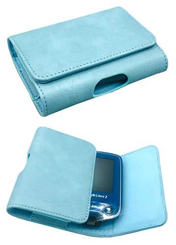 SEWAS Diabetic Care, Tasche für das Freestyle Libre Messgerät 1 und 2, Gürteltasche Blutzuckermessgerät, Diabetikertasche, Schutzcase Blau Türkis