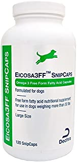 Dechra Eicosa 3FF SnipCaps Large Dogs over 30 lbs (120 count) by Dechra