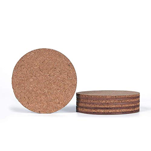 YuuHeeER Wooden Thick Cork Drink Coasters For Home Bar Kitchen Restaurant Cafe Wedding 12 Pcs