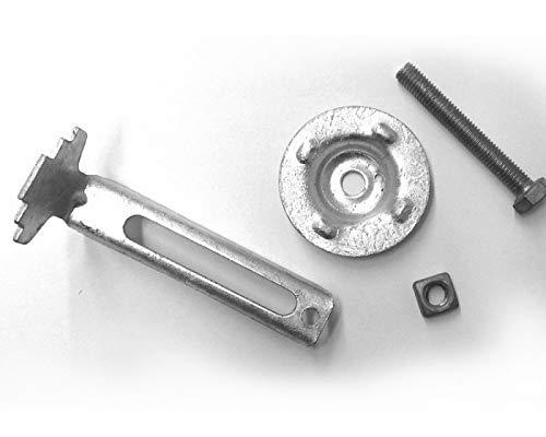 Gitterrost Halteklammer/zum Festklemmen/mit Telleroberteil (verzinkt, MW 30x30)