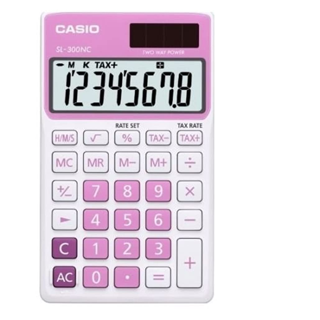 スライムモンキー勝者Casio SL-300NC-PK 基本電卓大型ディスプレイ税 SL300NC ピンク [並行輸入品]