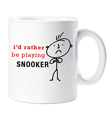 60 Tweede Makeover® mannen Ik zou liever spelen Snooker Mok Vaders Dag Papa Grappige Vriend Verjaardag Kerst Man