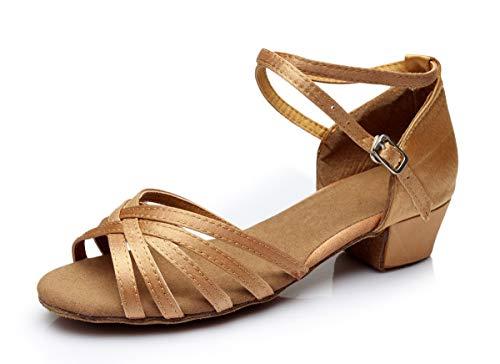 VESI - Damen Latein Schuhe für Frauen/Mädchen Beige Größe 36