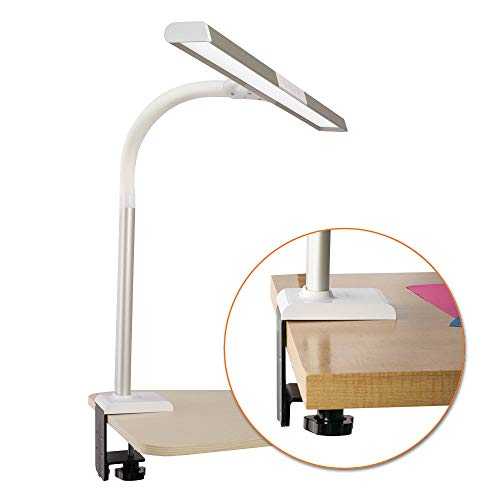 OttLite LED Extra Wide Area Clamp Lamp with 5 Brightness Settings
