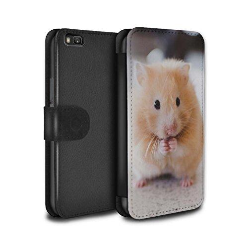 Stuff4® PU-lederen hoes/case/tas/cover voor Huawei P8 Lite/Golden Hamster patroon/schattige huisdieren collectie