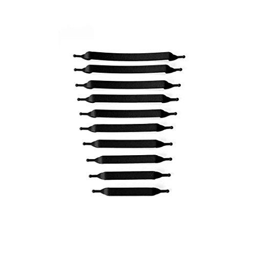 DANDANdianzi 16pcs / Paar Erwachsener Faule Elastic Keine Krawatte Shoelaces leicht Es wurden Keine Krawatte Silikon Freie Binden Silikon Schnürsenkel Leicht Schnürsenkel
