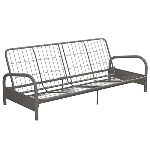 Big Save! DHP Kris Metal Futon Frame in Silver