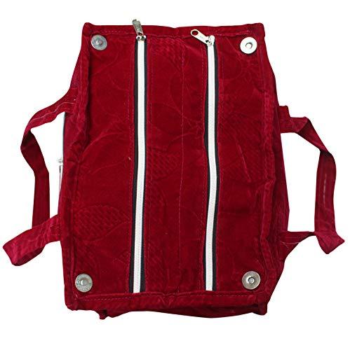 Eco Friendly Velvet Shoulder Bag for Women Maroon