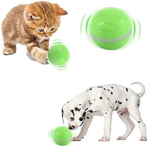 Wasserdichtes Katzen- und Hundespielzeug Wicked Balls, automatischer rollender Blitzball mit RGB-LED, wiederaufladbares intelligentes interaktives Haustier-Spielzeugball-Spaßgeschenk für Kitty Doggies