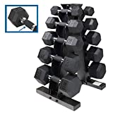 CAP Barbell 150/280/590 LB PVC-Coated Hex Dumbbell Pairs Set or Dumbbell Set with Rack Stand