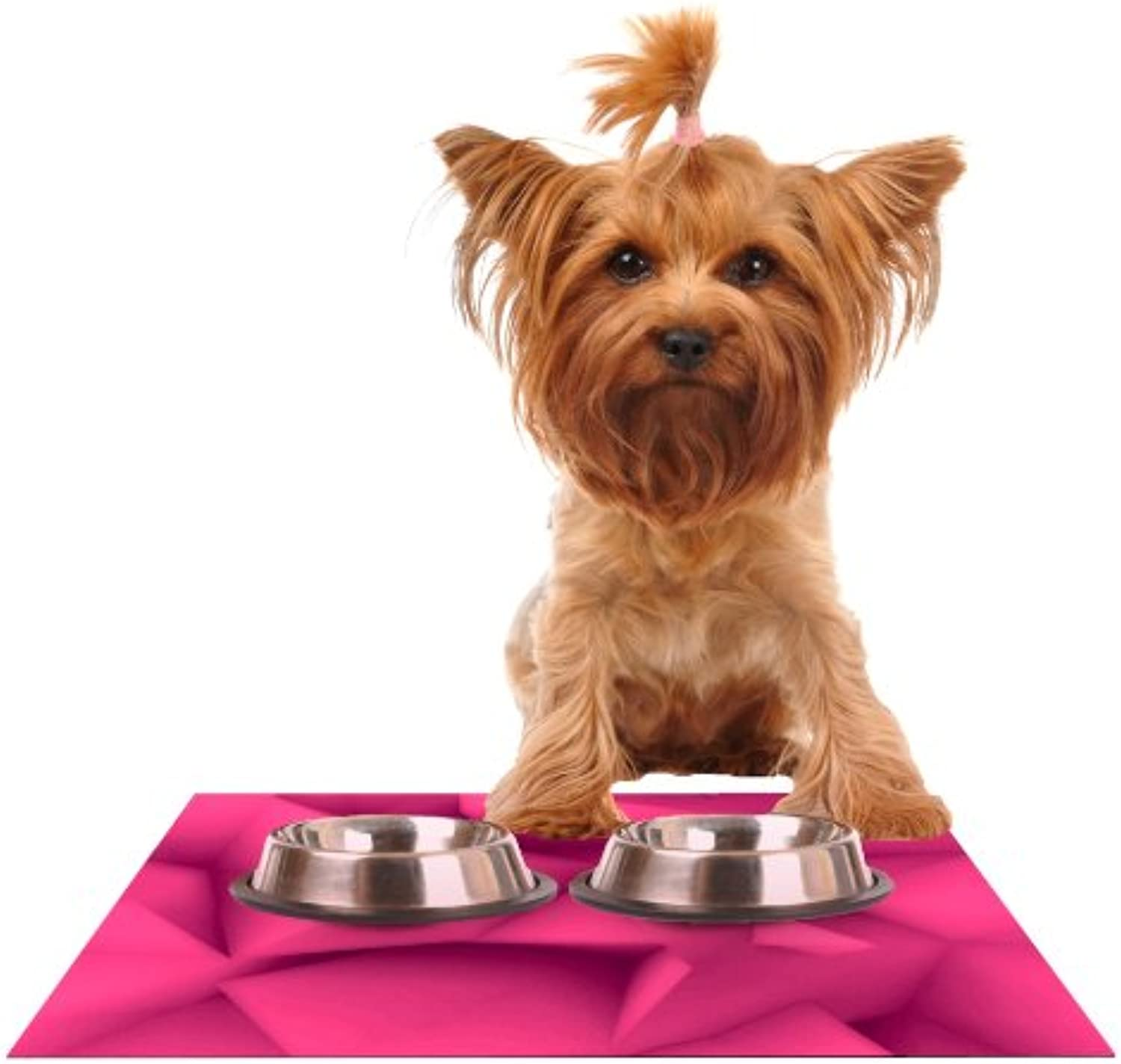 Kess InHouse Danny Ivan Purple Surface Feeding Mat for Pet Bowl, 18 by 13Inch