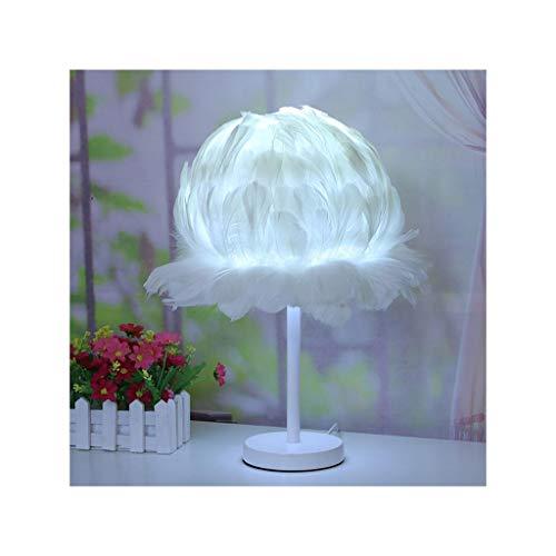 WFL-lámpara de escritorio Lámpara de mesa creativa caliente Protección de los ojos de loto pluma lámpara de mesa de noche LED Dormitorio Living Bar lámpara decorativa Lámpara de mesa Lámpara de mesa d