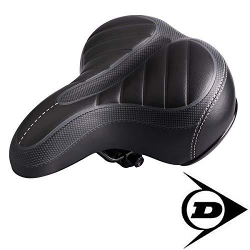 Dunlop FGS19 ergonomischer Cityrad Touring Gel Fahrradsattel, Damen u. Herren Cityradsattel gefedert, Stoßresistenter weicher Gelsattel , Fahrrad Sattel extra gepolstert, Komfortsattel, schwarz