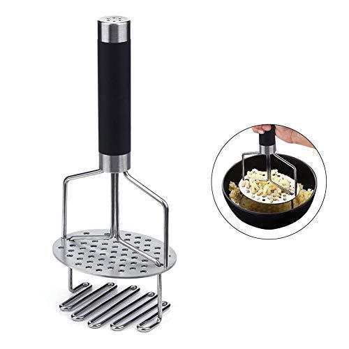 JooDaa Kartoffelbrecher aus Edelstahl Kartoffelstampfer mit Griff Gemüse Ricer Küchenutensilien Lochblende Kartoffelbrecher Kartoffel-Druck-Backwerkzeug