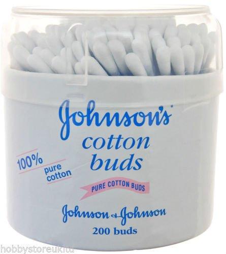 Johnson's Cotton Buds - Juego de 200 toallitas limpiadoras para oídos