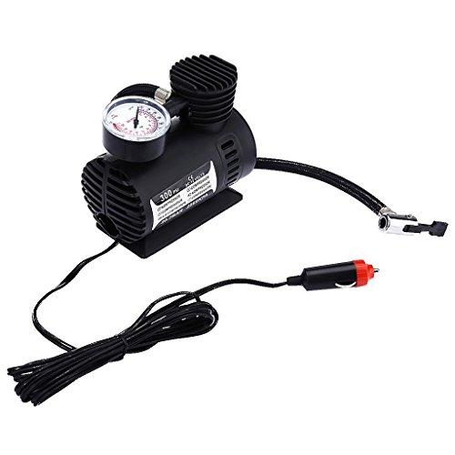 MERIGLARE Compresor de Aire Automático, Bomba de Aire Portátil de 300 PSI / 12V, Bomba de Neumáticos Automática para Automóviles,