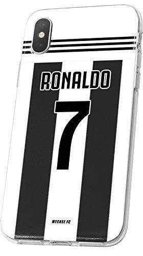 MYCASEFC - Cover Ronaldo personalizzabile, motivo: calcio, personalizzabile, per iPhone 5/5S/SE