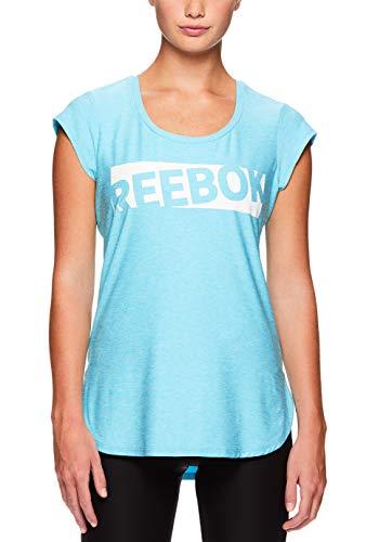 Reebok Women's Legend Performance Top Short Sleeve T-Shirt - Blue Atoll Heather, Extra Large