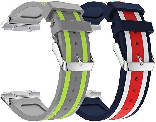 Classicase Bandas de Repuesto Compatible con Fitbit Ionic, Reloj Correa de Silicona Suave Correas Pulseras Correa Deportiva Pulsera (Pattern 2+Pattern 3)