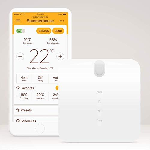 AirPatrol WiFi V3 - Intelligente Steuerung für Wärmepumpen und Klimaanlagen | Schönes Design, einfach zu bedienen | Kompatibel mit Alexa - Google Home - IFTTT - iOS - Android |