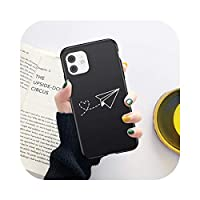 Bhttz 世界地図TravelPlane Soft Phone Case For iPhone 11 12 Mini Pro X XR XS Max 7 8 6 6s Plus 5s SE 2020 Love HeartTPU裏表紙-151-For iPhone 11Pro Max
