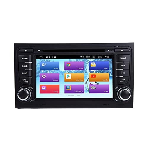 Android 10 Car Radio Reproductor de DVD para Audi A4 S4 RS4 Seat Exeo Estéreo para automóvil Navegación GPS Audio 7 pulgadas IPS Pantalla táctil Reproductor multimedia Unidad principal de doble Din So