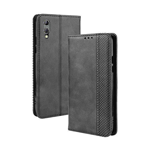 LAGUI Kompatible für Xiaomi Black Shark 2/2 pro Hülle, Leder Flip Hülle Schutzhülle für Handy mit Kartenfach Stand & Magnet Funktion als Brieftasche, schwarz