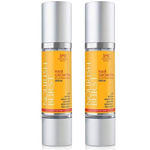 Nourish Beaute Hair Regrowth Treatment Serum for Hair Loss that Promotes Hair Regrowth, Volume and Thickening with Caffeine, For Men and Women, 2 Pack 1.7 Ounces