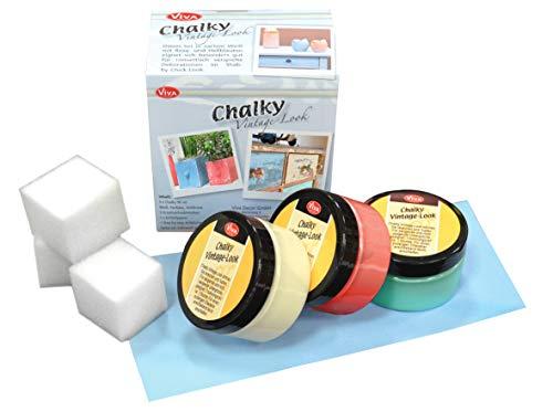 Viva Decor Chalky Vintage Look Paint Kit - Summer Breeze 8-teilig
